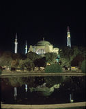 Haigia Sophia at night. Haigia Sophia (St. Sofia) at night.  Built in the 500's as a Christian church, it was converted to a mosque in the 1450's after the Stock Photography