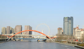 Haihe river Tianjin. China one of the longest rivers in China photoed on january 26th 2014 Royalty Free Stock Photography