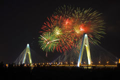 Haikou city centenary bridge Stock Image