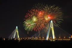 Haikou city centenary bridge Stock Image