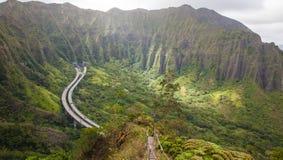 Haiku Stairs, Hawaii Stock Photos