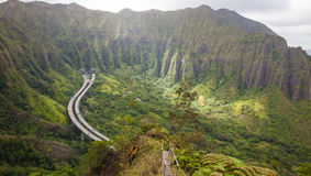 Haiku stairs, Hawaii Stock Photos
