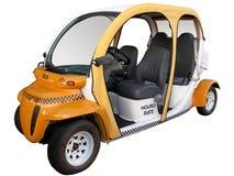 Hail a Cab!. Energy-saving neighborhood electric vehicle Stock Photo