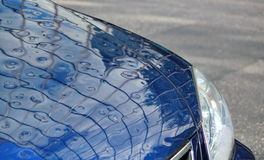 Hail on car Royalty Free Stock Photography