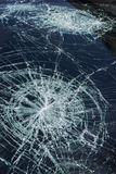 Hail damage to windshield Royalty Free Stock Photos