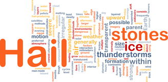 Hail stones background concept. Background concept wordcloud illustration of hail stones weather Stock Photo