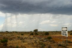 Hail Storm. Formation in the Outback Stock Photography