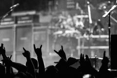 Hail to the metal horns Royalty Free Stock Image