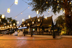 Hailand Lanna style architecture Starbucks Royalty Free Stock Images