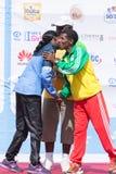 Haile Gebrselassie e Priscah Jeptoo Foto de Stock