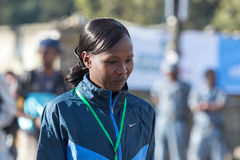 Haile Gebrselassie e Priscah Jeptoo Imagens de Stock
