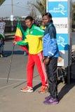 Haile Gebrselassie et Priscah Jeptoo Images libres de droits