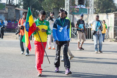 Haile Gebrselassie and Priscah Jeptoo Royalty Free Stock Images