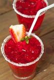 Hailed strawberry Stock Photos