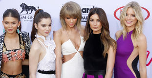 Hailee Steinfeld, Zendaya, Taylor Swift, Lily Aldridge and Martha Hunt Royalty Free Stock Photos