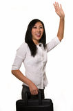 Hailing a cab Stock Photography