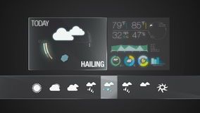 Hailing, Weather icon set animation. Weather icon set animation(included alpha&#x29 stock footage