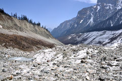 Hailuogou-Gletscher Stockfotos
