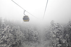 Hailuogou snow-capped mountains on the cable car Royalty Free Stock Image