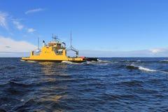 Hailuoto ferry. From Oulunsalo, Oulu to Hailuoto. Finland Royalty Free Stock Photo