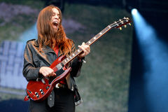 Haim (American pop rock band from Los Angeles, California) in concert at Heineken Primavera Sound 2014 Festival Royalty Free Stock Photos