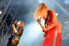Haim (band), performance at Heineken Primavera Sound 2014 Festival (PS14) Stock Photo