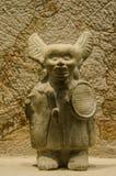 Haina海岛的古老玛雅小雕象 库存照片