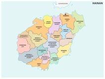 Hainan administracyjna i polityczna wektorowa mapa, porcelana Zdjęcie Royalty Free