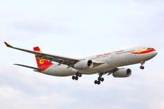 Hainan Airlines flygbuss A330 Arkivbilder
