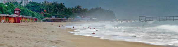 Hainan beach early in the morning. Royalty Free Stock Images