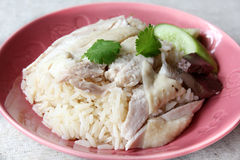 Hainan chicken rice Stock Photography