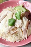 Hainan chicken rice. Asian style hainan chicken rice closeup Stock Photo