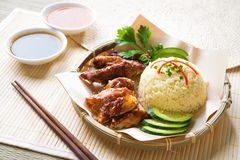 Hainan chicken rice Royalty Free Stock Photos