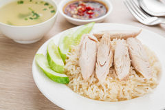 Hainan chicken with rice Stock Photo
