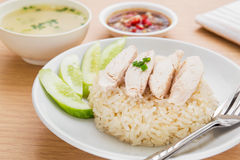 Hainan chicken with rice Stock Image