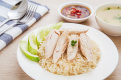 Hainan chicken with rice Royalty Free Stock Photo