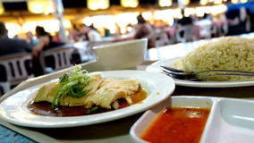 Hainan chicken rice royalty free stock images