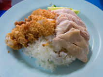 Hainan chicken rice Stock Image