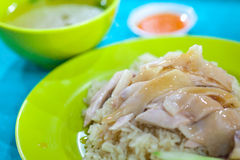 Hainan chicken rice Stock Images