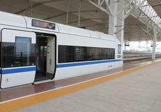 Hainan Express Train. Hainan Express last stop at Haikou railway center Stock Photography
