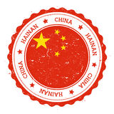 Hainan flag badge. Royalty Free Stock Image
