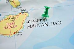 Hainan-Karte stockbild