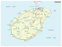 Hainan prącie i wektorowa mapa, porcelana Zdjęcia Stock