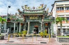 Hainan tempel i Penang, Malaysia royaltyfria bilder
