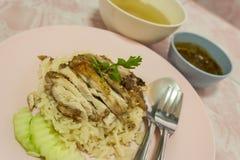 hainanese ρύζι κοτόπουλου στοκ εικόνα με δικαίωμα ελεύθερης χρήσης