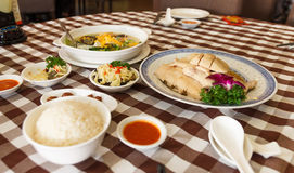 Hainanese chicken. Top hit food in Singapore Stock Image