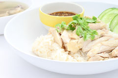Hainanese chicken meat rice Stock Photography