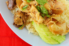 Hainanese chicken rice Royalty Free Stock Image