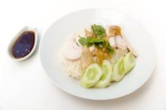 Hainanese chicken rice Stock Image