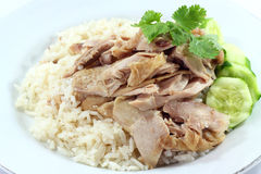 Hainanese chicken rice. Food for health Stock Image